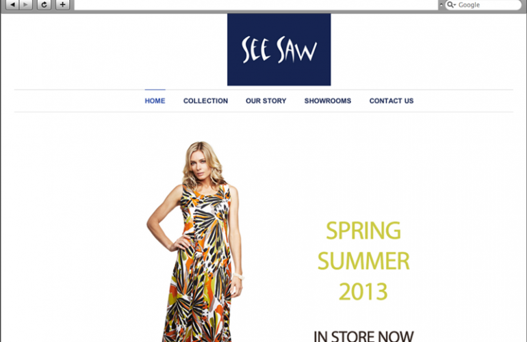 See Saw Clothing Website