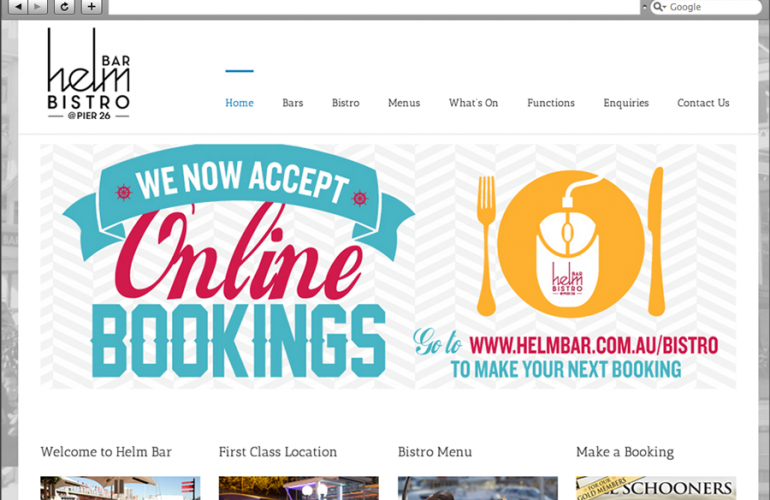 Helm Bar Website